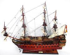 """San Felipe Ship Model by master craftsmen 38""""- Built Wooden Model New"""