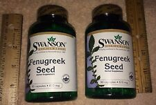 (2) Fenugreek Herbal Supplement, from Swanson: 180 capsules (total), 610 mg each