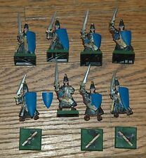 Warhammer High Elf Great Swords (8 old metal, partially painted)