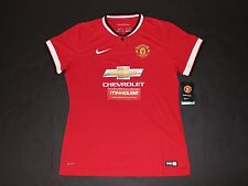 New Women's Nike Manchester United Authentic Jersey Shirt Top MANU Soccer Size L