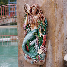 Sea Mermaid Mythical Creature Nautical Decor Wall Statue Hanging Art Sculpture
