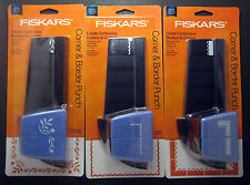 Lot of 3 FISKARS Border Corner Scrapbook Paper Punches - 3 Designs! NIP