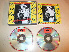 Hank Williams - 40 Greatest Hits (Best Of)(2 CD Set) Fatbox - Ex Condition