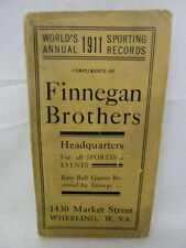FINNEGAN BROTHERS 1911 WORLD'S ANNUAL SPORTING RECORDS