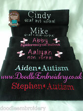 ONE Personalised Embroidered Seat Belt Cover / Pad - medical emergency help ICE