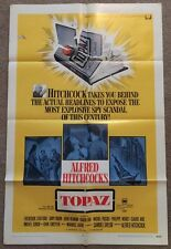 One Sheet Movie Poster 1969 Topaz Alfred Hitchcock Frederick Stafford