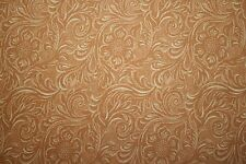 """COUNTRY WESTERN COWBOY TOOLED LEATHER LOOK FABRIC from  MODA """"KING OF THE RANCH"""""""