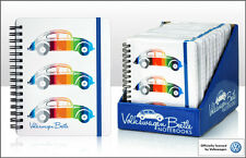 VW Colured Beetle OFFICIAL LICENSED A6 Ring Binder - Coloured Stripes note book