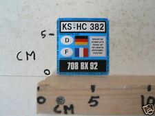 STICKER,DECAL KS-HC 382 EN 708 BX 92 NUMMERBORDEN DUYVIS GERMANY FRANCE