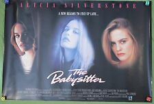 The Babysitter Movie Poster Alicia Silverstone Jeremy London VTG 1995 Thriller