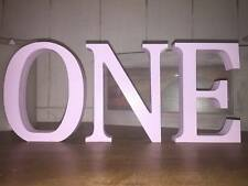 Any 6 Baby Pink Wooden Letters, 13cm Large Letters, Numbers Or & Signs