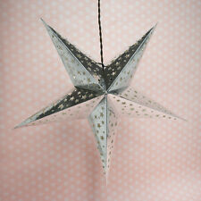 "24"" Silver Foil Cut-Out Paper Star Lantern, Hanging Decoration"