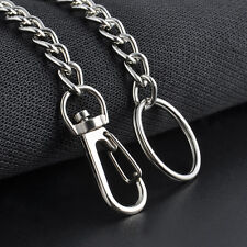 New Extra Long Strong Metal Hipster Key Wallet Belt Ring Clip Chain keychain