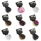 12 Pack Coloured Snag Free Endless Hair Elastics Bobbles Hair Bands Accessories