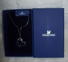 Authentic Swarovski Loveheart Pendant Necklace, Light Azore Moonlight new