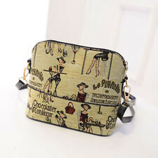 Hot Sale Women Print Shoulder Bag Leather Purse Satchel Messenger Bags Shell Bag