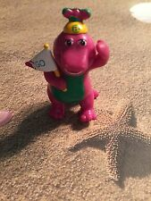 HTF BARNEY THE DINOSAUR  W GO PENNANT FIGURE CAKE TOPPER DECORATION PLAY