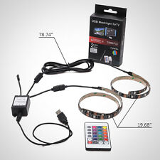 2 Legs RGB LED Fairy Light Strip with Remote Control for TV PC Car Bike Mirror