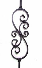 "44"" SOLID IRON SCROLL BALUSTER STAIR RAIL BLACK *****NEW*****"