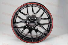 "19"" BLACK WITH RED LIP M3 CSL STYLE RIMS WHEELS FITS BMW 3 SERIES 335 328 E90 M"