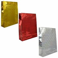 3 Assorted Holographic Small Birthday Wedding Christmas Present Gift Bags