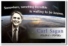 """Carl Sagan """"Somewhere, Something Incredible""""- NEW Classroom Science Space POSTER"""