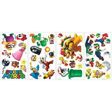 SUPER MARIO GAME 35 BiG Wall Stickers NINTENDO Bowser YOSHI Room Decor Decals RC