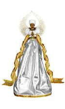 SERENITY in SILVER African American Angel Christmas Tree Topper United Treasures