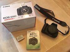 Canon EOS 650D / Rebel T4i 18.0MP Digital SLR Camera - Black (Body Only)