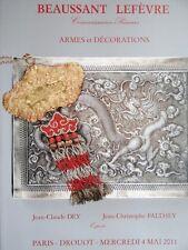 Catalogue de vente Ordre de Chevalerie Souvenirs Historiques Armes de chasse