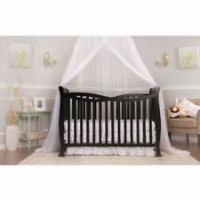 Dream On Me Violet 7-in-1 Convertible Baby Crib Black Nursery Toddler Bed