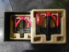 Crank Brothers 5050 3 Pedals Black/Red MTB Mountain Bike Flat Platform New