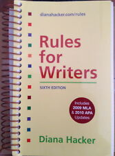 Rules for Writers 6th Edition with 2009 mla & 2010 apa updates English, College