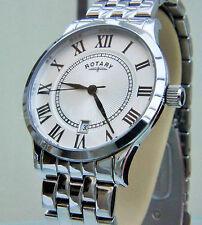 Nuevo Para hombres Reloj Rotary Slim Rrp £ 170 S/Acero de fácil lectura en caja Vendedor de Reino Unido original
