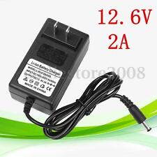 12.6V 2A 50-60HZ Adapter Charger For Lithium Ion Li-ion LiPo Battery US Plug