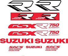 GSXR 750 1989 Red, White and Black vinyl decal kit