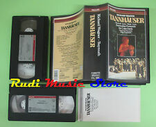 VHS Richard Wagner TANNHAUSER Wenkoff Jones Weikl Sotin Davis (CL1) no cd dvd