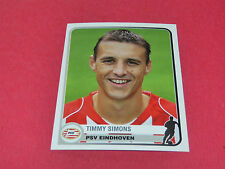 303 TIMMY SIMONS PSV EINDHOVEN UEFA PANINI FOOTBALL CHAMPIONS LEAGUE 2005 2006