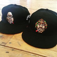 biggie smalls Caricature Embroidered snapback cap weed  ganja  big  notorious