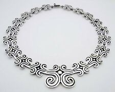 "Estate LOS BALLESTEROS Mexico 16-3/4"" Choker Necklace in Sterling Silver # 39"