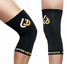 Copper United Knee Sleeve, High Quality Compression Fit Support - (Medium)
