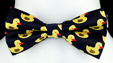 Rubber Ducky Mens Bow Tie Adjustable Wedding Fashion Funny Gift Duck Bowtie New