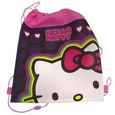 Sling Bag Tote Drawstring Non-Woven Sanrio Hello Kitty Pink NEW