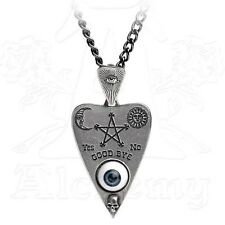 Alchemy Gothic PLANCHETTE Pendant Necklace, P766, 19c Ouija Board All Seeing Eye