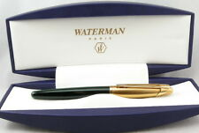 WATERMAN EDSON EMERALD GREEN    ROLLERBALL PEN NEW IN BOX VERY RARE PEN
