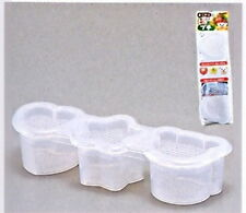 Japanese Sushi Mold Rice Ball Maker 3 Shapes White 0688