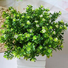 7-Branches Plastic Artificial Milan Grass Leaves Plant Home Wedding Decor