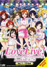 Love Live ! School Idol Project Season 1 + 2 (TV 1 - 26 End) DVD + Free Gift