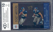2004 leaf r&s ticket masters gold #18 ELI MANNING / shockey rookie BGS BCCG 10