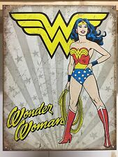 Wonder Woman Heroic Officiall DC Comic Vintage Retro Metal Tin Sign Poster Decor